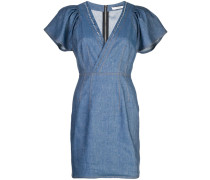 Schmales Kleid mit V-Ausschnitt