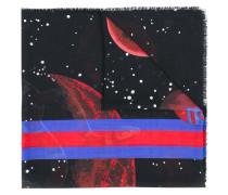 """Wollschal mit """"Space Snake""""-Print"""
