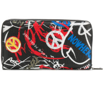 graffiti zip around wallet