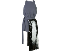 asymmetric sequinned panel top