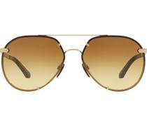 Pilotenbrille mit Karomuster