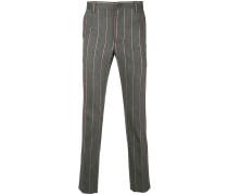 striped slim-fit pants