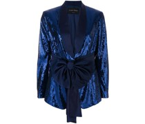 sequined smoking jacket