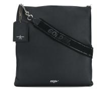 squared logo shoulder bag