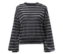 Gestreiftes Sweatshirt aus Lurex