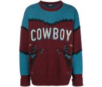 """Wollpullover mit """"Cowboy""""-Schriftzug"""