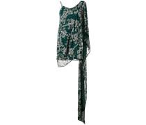 Asymmetrisches Kleid mit Stickerei