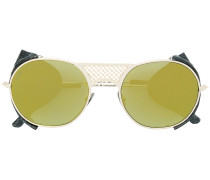 round frame aviator-style sunglasses