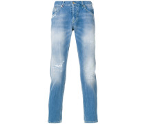 Tapered-Jeans in Washed-Optik