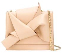 draped front tote bag