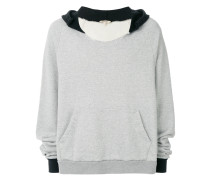 Oversized-Kapuzenpullover in Distressed-Optik