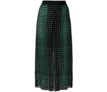 crystal embellished lace skirt
