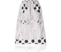 embroidered polka dot skirt