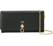 Portemonnaie mit goldfarbenem Ring