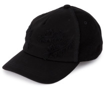 feather embroidered cap