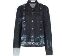 Jeansjacke mit Bleached-Effekt