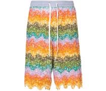 Verzierte Shorts mit Wellenmotiv