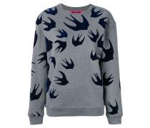 Sweatshirt mit Schwalben-Stickerei
