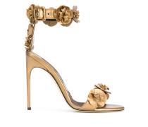 3D flower detail sandals