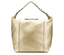 Hobo-Tasche im Metallic-Logo