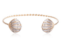 18k yellow gold Coquillage open shell bracelet