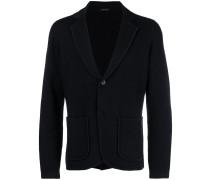 slim-fit knit blazer