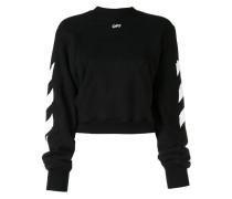 Sweatshirt mit diagonalem Print