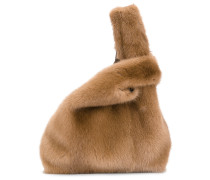 Handtasche mit Pelzbesatz