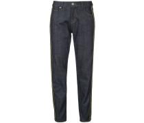 Cropped-Jeans mit Kontraststreifen