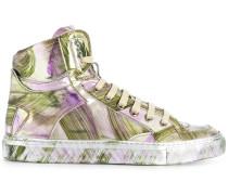 Sneakers mit Kunstpelzbesatz