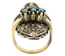 Vergoldeter 'Elegua' Ring