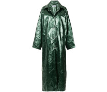 glossy long raincoat