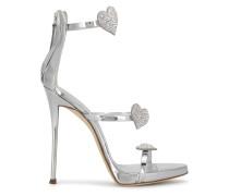 Coline Swarovski heart sandals