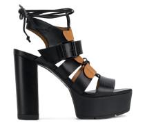 open toe platform sandals