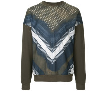 Shibori printed sweatshirt