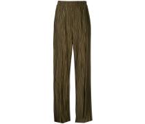 Weite Hose mit Falten