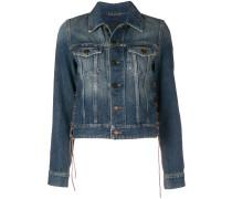 lace-up detail denim jacket