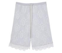 Shorts aus Chantilly-Spitze
