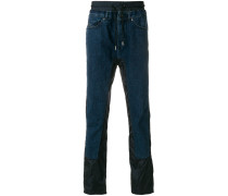 contrast panel straight-leg jeans