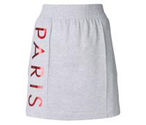 logo print A-line skirt