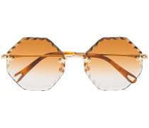 Sonnenbrille in Metallic-Optik