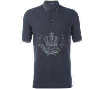 Poloshirt mit aufgestickter Krone