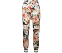 floral fitted trousers