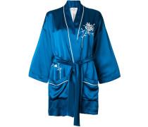 embroidered belted jacket