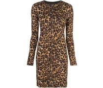 leopard print mini dress