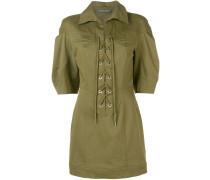 Gabardine-Kleid mit Schnürung