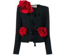 Blazer mit Rosenapplikationen