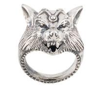 Ring mit Wolf