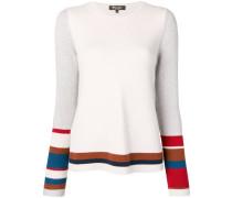 knit panelled jumper