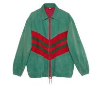 Oversized-Jacke mit Webstreifen